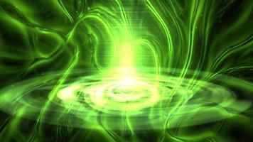 Fondo de fantasía de neón verde abstracto