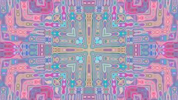 Fondo de caleidoscopio simétrico pastel abstracto video