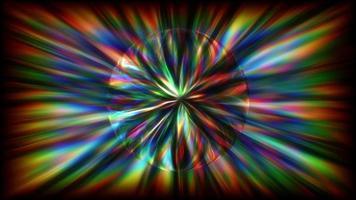 Fondo de arco iris abstracto con una esfera giratoria