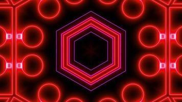 Fondo de mandala caleidoscopio de neón abstracto