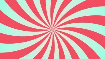 vídeo de movimento radial abstrato em quadrinhos com animação de rotação nas cores vermelha e azul
