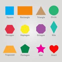 Colorful 2d Shapes With Names