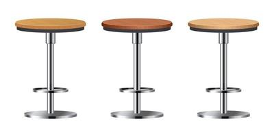 Realistic bar chair set vector illustration