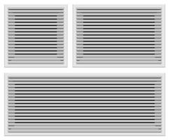Bathroom ventilation grills set vector illustration