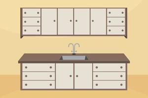 Modern Kitchen Cabinets Illustration vector