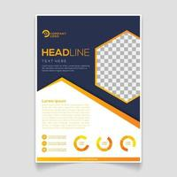 Business brochure template with minimalist style vector