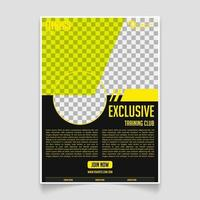 Fitness and gym brochure template vector