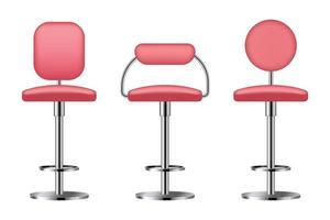 conjunto de silla de bar realista ilustración vectorial vector