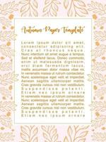 Autumn paper background template vector