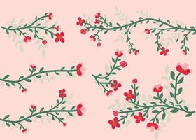 Stylish Floral Branches Collection vector