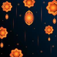diseño de fondo de ornamento islámico vector