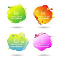 Collection of liquid color backgrounds vector