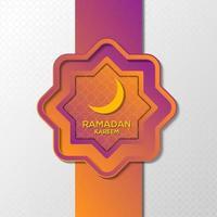 diseño de fondo de ornamento púrpura ramadan kareem vector