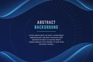 Elegant Blue Curved Presentation Background vector