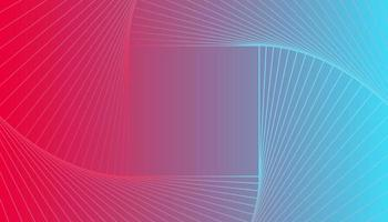 Gradient Pink and Blue Background With Swirl Square vector
