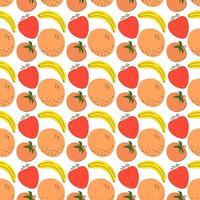 Seamless pattern fruit flat design vector