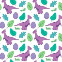 funny dinosaurs seamless pattern Ideal for cards, invitations, party, banners, kindergarten, baby shower, preschool and children room decoration