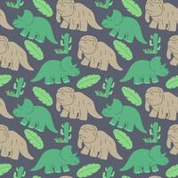 funny dinosaurs seamless pattern Ideal for cards, invitations, wallpaper, backgrounds and children room decoration. vector