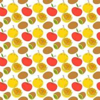 pattern with element fruits. seamless pattern with orange and kiwi vector illustration,