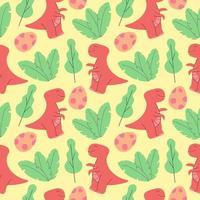 Lindo patrón de dinosaurios desig ilustración vectorial de patrones sin fisuras con dinosaurios vector
