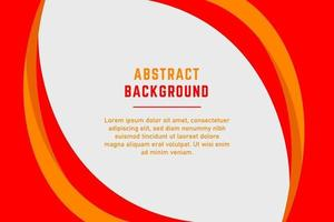 Abstract Red and Yellow Curved Lines Presentation Background vector