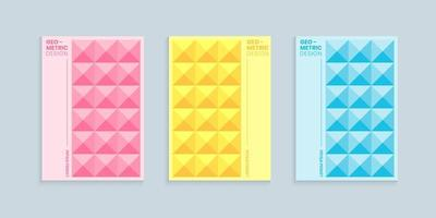 Geometric abstract cover design set