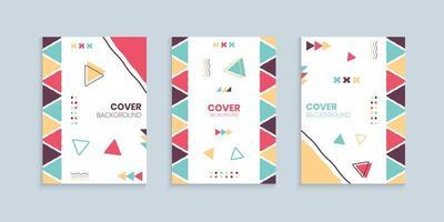 Retro cover design template
