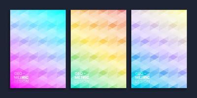 Minimal geometric abstract gradient cover design set