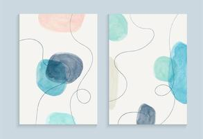 Watercolor painting cover design vector