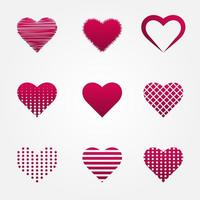Hearts collections in different shapes, Heart collection in various shapes