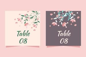 Wedding Table Number With Flowers vector