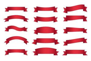 Elegant Red Ribbons Collection vector