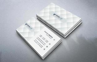 elegante tarjeta de visita blanca