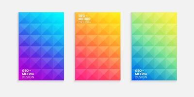 Elegant minimal cover design set with gradient background