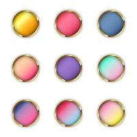 Colorful Glossy Web Buttons Collection vector