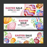 Happy Easter Promotional Banner Set vector