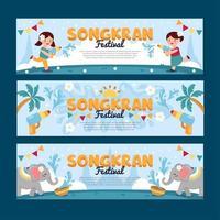 Water Splashing During Songkran Festival vector
