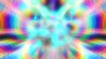 Fondo de neón iridiscente arco iris giratorio abstracto