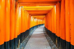 Torii gates at the Fushimi Inari shrine in Kyoto, Japan photo