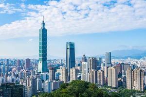 Cityscape of Taipei, Taiwan photo