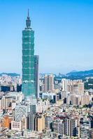 torre taipei 101 en taipei, taiwán foto