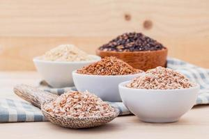 Assortment of whole grains photo