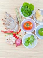 Fresh ingredients for Tom Yum