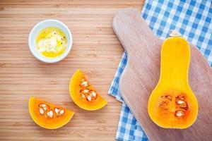 Fresh pumpkin for soup photo