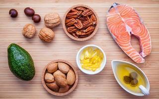 Fresh salmon fillet ingredients