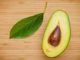 Fresh avocado and leaf