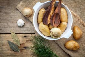 Pot of potatoes