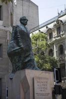 Estatua de Salvador Allende en Santiago de Chile.