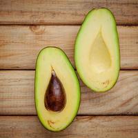 Fresh halved avocado