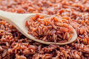 Close-up of whole grain rice photo